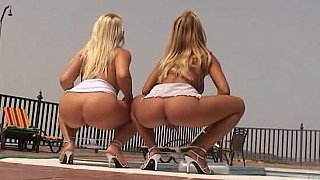 Perfectly shaped babes showing off