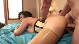 Curvy Angelica got a latex fetish