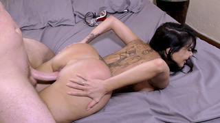 Lela Star's big fake ass bounces with every thrust of his piston