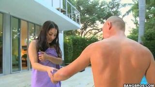 Roxy Jezel shows off her amazing Asian body