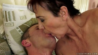 An elderly couple has some raunchy ass sex