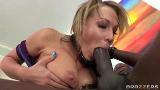 Stunning blonde Nikki Sexx fuck with black guy to prove that she is not racist