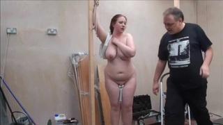 buxom redhead meets handyman