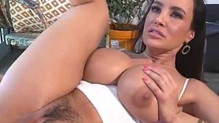 Horny hottie chick Lisa Ann gets a tasty huge cock