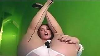Babe In Pantyhose Stripping