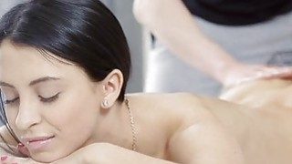 Darling gives wet blowjob after sex tool playing