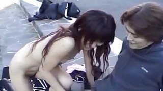 Subtitled extreme Japanese public nudity blowjob