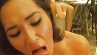 Petite Babe Gets Her Cute Face Cummed