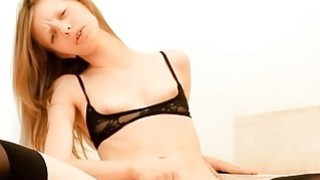 Lovely honey in stockings needs anguish for pussy