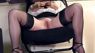 Compilation of secretary legs and masturbation