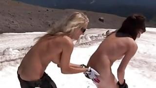 Badass babes deep sea fishing while nude
