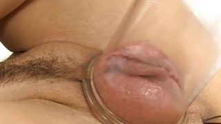 Beautys lewd pussy is leaking with vaginal nectar