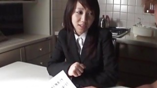 Haruka fucked and creamed in her hairy pussy