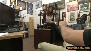 Pretty brunette woman railed by pawn guy