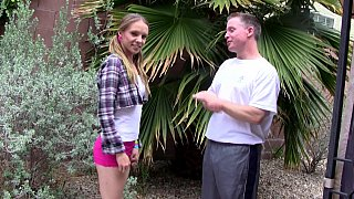 Pigtailed young girl gets to seduce an older guy