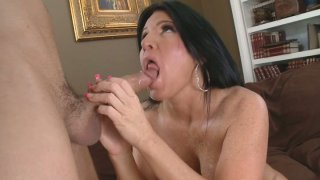Horny milf Kendra Secrets jumping on a cock and sucking dick hard