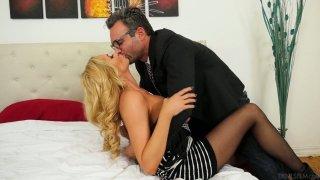 German blond milf Briana Banks gets her pussy slammed hard